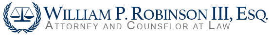 William P. Robinson III, Esq.  Attorney and Counselor at Law logo